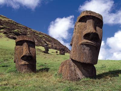 Marvel At The Moai Statues