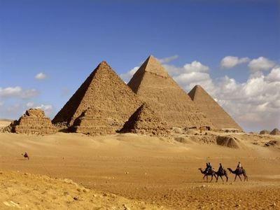 Point At The Pyramids Of Giza