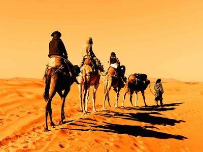 Ride A Camel Into The Desert