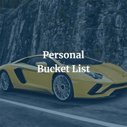 Personal Bucket List